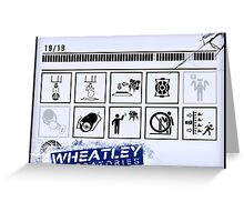 Wheatley Laboratories, Long Test Chamber Sign Greeting Card