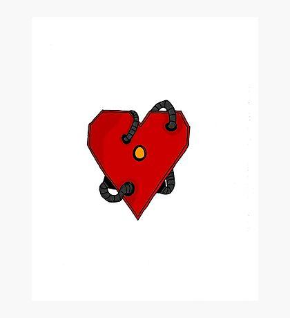 Robot Heart Photographic Print