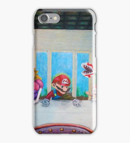 Mario the Last Supper iPhone Case/Skin