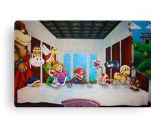 Mario the Last Supper Canvas Print