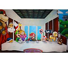 Mario the Last Supper Photographic Print
