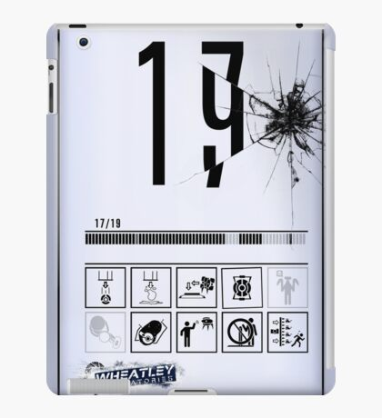 Wheatley Laboratories, Tall Test Chamber Sign iPad Case/Skin