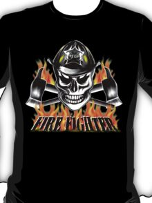 Firefighter Skull 4 T-Shirt