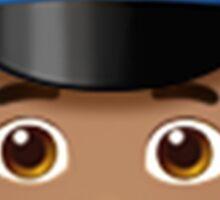 Emoji Police Officer (Brunette Male) Sticker