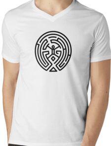 Westworld Black Maze Original Mens V-Neck T-Shirt