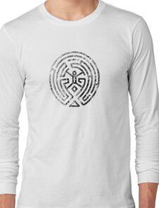 Westworld Maze Original Black Distressed Long Sleeve T-Shirt