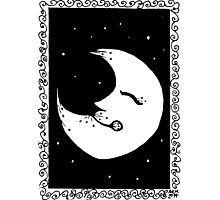 Inky Moon Photographic Print