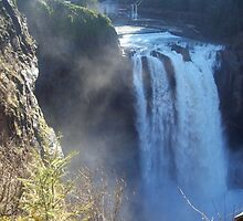 Snoqualmie Falls with House by aliciammarlow