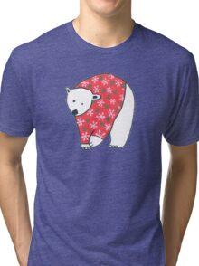 Polar Bear In A Sweater Tri-blend T-Shirt