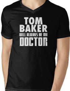 Doctor Who - Tom Baker will always be my Doctor Mens V-Neck T-Shirt