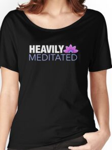 Heavily Meditated | Lotus Design Women's Relaxed Fit T-Shirt
