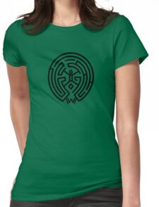 Westworld Black Maze Symbol Womens Fitted T-Shirt