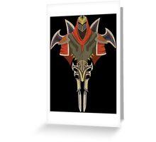 Zed Armor Greeting Card
