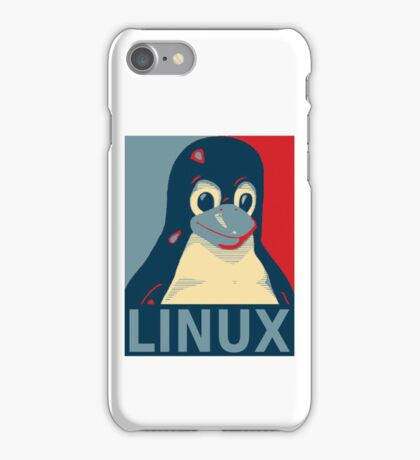 Tux red, white, and blue iPhone Case/Skin