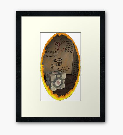 Orange Portal Unwalled Framed Print