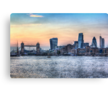 The River Thames and the City Canvas Print