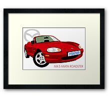 Mazda MX-5 Miata NB red Framed Print