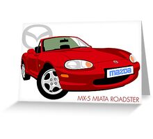 Mazda MX-5 Miata NB red Greeting Card