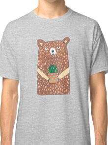 Cute Bear Holding His Plant Classic T-Shirt