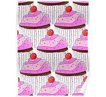 Sprinkle Cupcake Pattern Poster