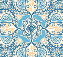 Gypsy Floral in Teal & Blue Sticker