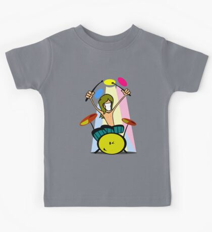 Drummer Cartoon Kids Tee