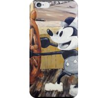Steamboat Willy Painting iPhone Case/Skin