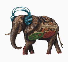popart elephant - musik One Piece - Short Sleeve