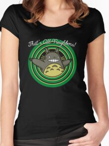 That's all neighbors Women's Fitted Scoop T-Shirt