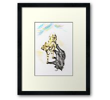 Another Cat following Framed Print