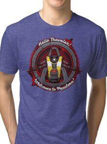 Borderlands - Claptrap art Tri-blend T-Shirt