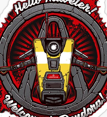 Borderlands - Claptrap art Sticker