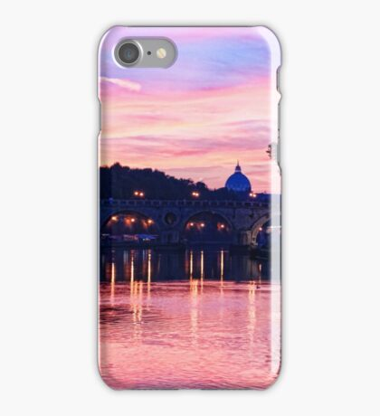 Impressions of Rome - Glorious Sky Over Tiber River iPhone Case/Skin