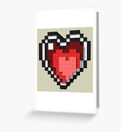3D PIXEL - Hearts Greeting Card