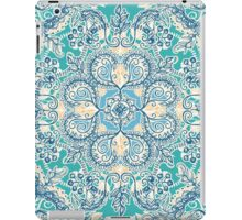 Gypsy Floral in Teal & Blue iPad Case/Skin