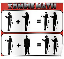 Zombie Math Poster