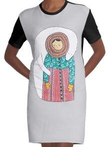 Lady And Her Polar Bear Friend Robe t-shirt