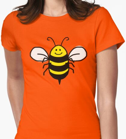 Cute Bumble Bee, happy art Womens Fitted T-Shirt