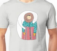 Lady And Her Polar Bear Friend Unisex T-Shirt
