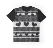 Think Black Hearts Graphic T-Shirt