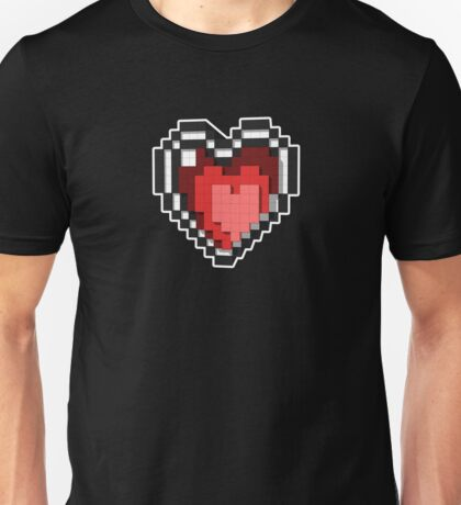 3D PIXEL - Hearts (BLACK) Unisex T-Shirt