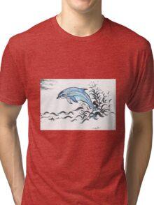 Bottle nose Dolphin Tri-blend T-Shirt
