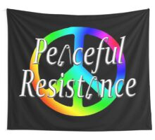 #Peaceful #Resistance - Rainbow Wall Tapestry