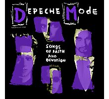 Depeche Mode : Paint of Song Of Faith and Devotion cover Photographic Print