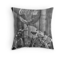Coke and a Ride Throw Pillow