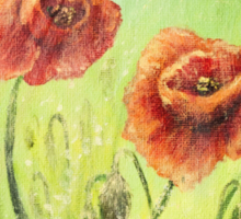 Summer Poppies Sticker