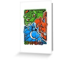 CLASSIC POCKET MONSTERS Greeting Card