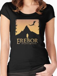 Erebor - The Lonely Mountain (The Hobbit) Women's Fitted Scoop T-Shirt