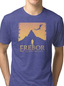 Erebor - The Lonely Mountain (The Hobbit) Tri-blend T-Shirt