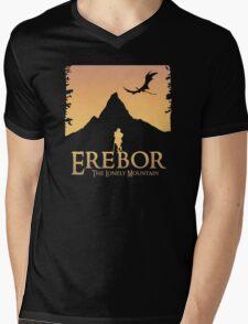 Erebor - The Lonely Mountain (The Hobbit) Mens V-Neck T-Shirt